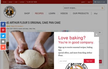 http://www.kingarthurflour.com/recipes/king-arthur-flours-original-cake-pan-cake-recipe