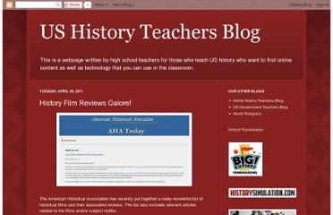 http://ushistoryeducatorblog.blogspot.com/2011/04/history-film-reviews-galore.html