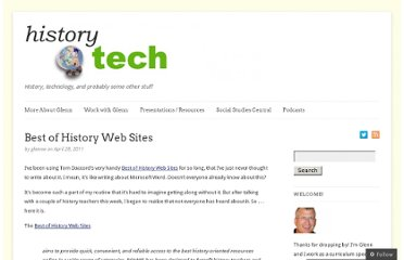 http://historytech.wordpress.com/2011/04/28/best-of-history-web-sites/