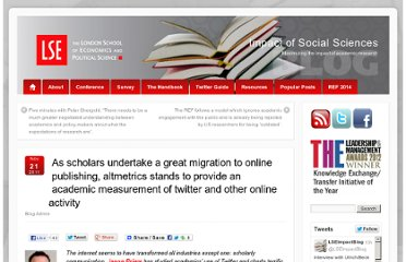 http://blogs.lse.ac.uk/impactofsocialsciences/2011/11/21/altmetrics-twitter/