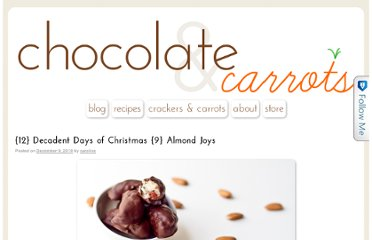 http://chocolateandcarrots.com/2010/12/12-decadent-days-of-christmas-9-almond-joys