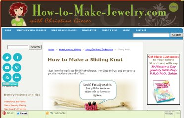 http://www.how-to-make-jewelry.com/sliding-knot.html
