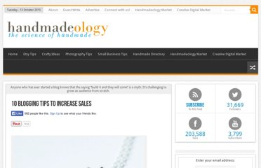 http://www.handmadeology.com/10-blogging-tips-to-increase-sales/