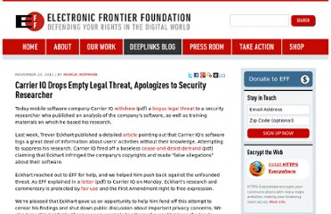 https://www.eff.org/deeplinks/2011/11/carrier-iq-drops-empty-legal-threat-apologizes-security-researcher
