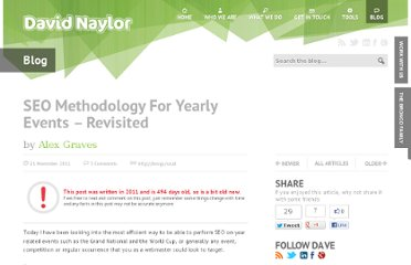 http://www.davidnaylor.co.uk/seo-methodology-for-yearly-events-revisited.html