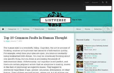 http://listverse.com/2010/01/07/top-10-common-faults-in-human-thought/