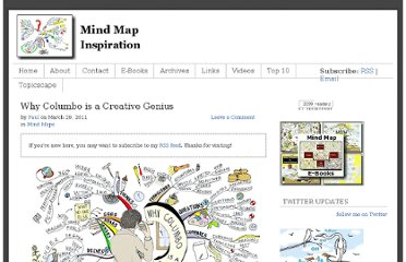 http://www.mindmapinspiration.com/why-columbo-is-a-creative-genius/