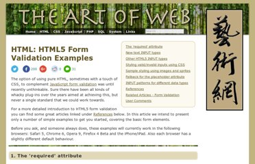 http://www.the-art-of-web.com/html/html5-form-validation/