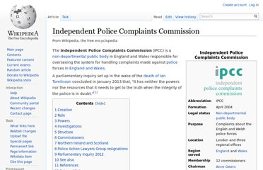 http://en.wikipedia.org/wiki/Independent_Police_Complaints_Commission