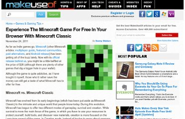http://www.makeuseof.com/tag/experience-minecraft-game-free-browser-minecraft-classic/