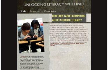 http://www.throughstudentseyes.org/ipads/Unlocking_Literacy_with_iPad/iPads.html