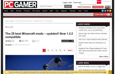 http://www.pcgamer.com/2011/11/04/the-25-best-minecraft-mods/