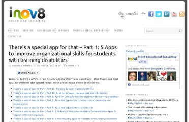 http://www.inov8-ed.com/2010/10/theres-a-special-app-for-that-part-1-5-apps-to-improve-organizational-skills-for-students-with-learning-disabilities/