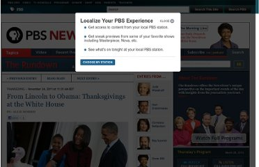 http://www.pbs.org/newshour/rundown/2011/11/from-lincoln-to-obama-thanksgiving-at-the-white-house.html