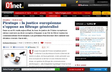 http://www.01net.com/editorial/547206/piratage-la-justice-europeenne-soppose-au-filtrage-generalise/