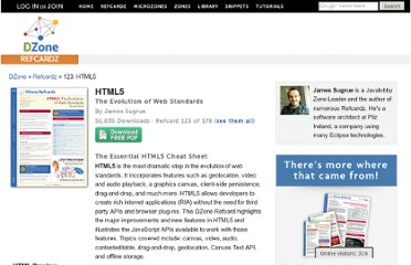 http://refcardz.dzone.com/refcardz/html5-new-standards-web-interactivity