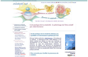 http://www.creativite.net/art-pratique-de-la-creativite-julia-cameron/