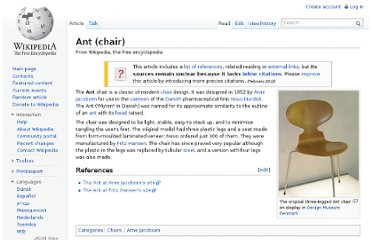 http://en.wikipedia.org/wiki/Ant_(chair)
