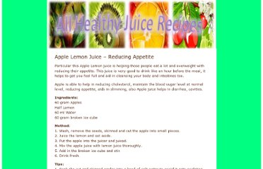 http://www.all-healthy-juice-recipes.com/weight-loss/apple-lemon-juice-reducing-appetite/