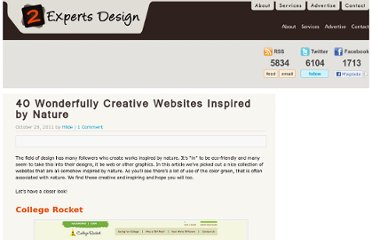 http://www.2expertsdesign.com/graphics/40-wonderfully-creative-websites-inspired-by-nature