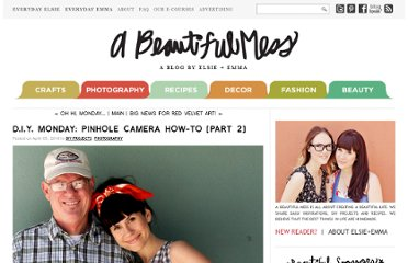 http://abeautifulmess.typepad.com/my_weblog/2010/04/diy-monday-pinhole-camera-howto-part-2.html