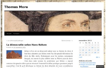 http://thomasmore.wordpress.com/2011/11/25/la-democratie-selon-hans-kelsen/