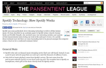 http://pansentient.com/2011/04/spotify-technology-some-stats-and-how-spotify-works/