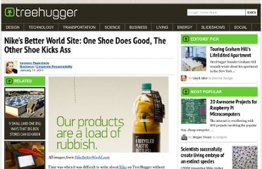 http://www.treehugger.com/corporate-responsibility/nikes-better-world-site-one-shoe-does-good-the-other-shoe-kicks-ass.html