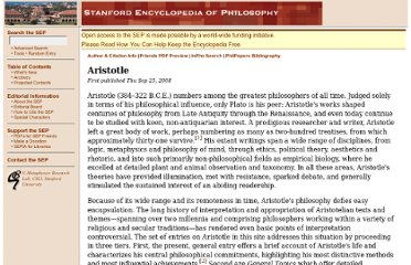 http://plato.stanford.edu/entries/aristotle/
