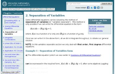 http://www.intmath.com/differential-equations/2-separation-variables.php