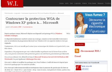 http://www.webinterdit.com/2006/10/26/contourner-la-protection-wga-de-windows-xp-grace-a-microsoft/