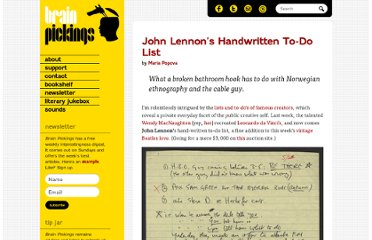 http://www.brainpickings.org/index.php/2011/11/24/john-lennon-to-do-list/