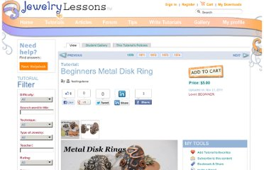 http://www.jewelrylessons.com/tutorial/beginners-metal-disk-ring
