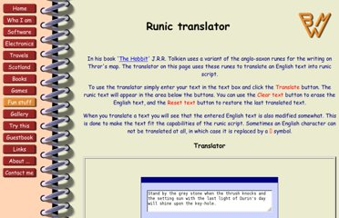 http://www.bmeijer.com/fun_stuff/runic_translator/index.html