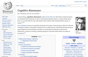 http://en.wikipedia.org/wiki/Cognitive_dissonance