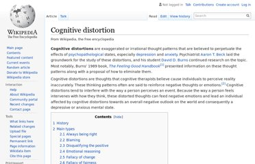 http://en.wikipedia.org/wiki/Cognitive_distortion