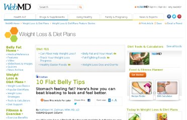 http://www.webmd.com/diet/features/10-flat-belly-tips