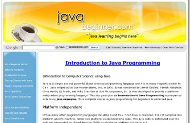 http://www.javabeginner.com/learn-java/introduction-to-java-programming