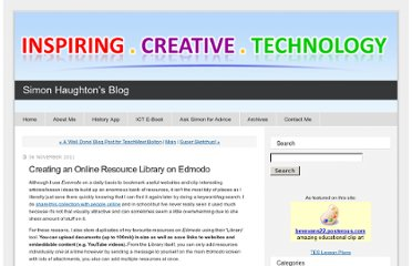 http://www.simonhaughton.co.uk/2011/11/creating-an-online-resource-collection-using-your-edmodo-library.html