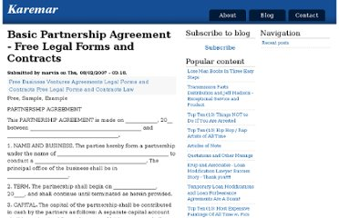 Partnership Agreement Template Fmla - Website partnership agreement template
