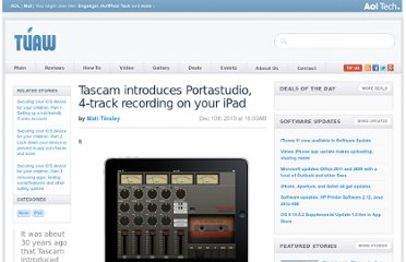 http://www.tuaw.com/2010/12/10/tascam-introduces-portastudio-4-track-recording-on-your-ipad/
