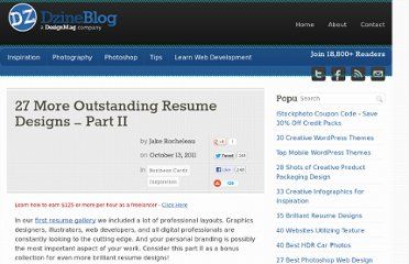 http://dzineblog.com/2011/10/27-more-outstanding-resume-designs-part-ii.html#more-12228