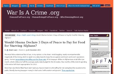 http://warisacrime.org/content/would-obama-declare-3-days-peace-pay-food-starving-afghans