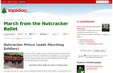 http://www.squidoo.com/Tchaikovsky-Nutcracker-March