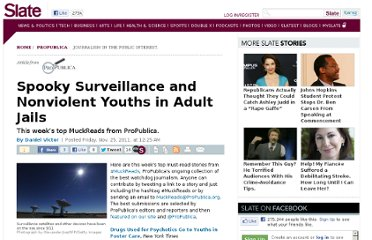 http://www.slate.com/articles/briefing/propublica/2011/11/spooky_surveillance_and_nonviolent_youths_in_adult_jails_top_muckreads_from_propublica_.html