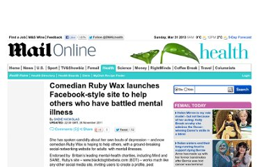 http://www.dailymail.co.uk/health/article-2066543/Comedian-Ruby-Wax-launches-Facebook-style-website-adults-mental-illness.html