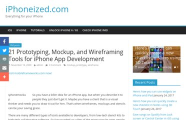 http://iphoneized.com/2009/11/21-prototyping-mockup-wireframing-tools-iphone-app-development/