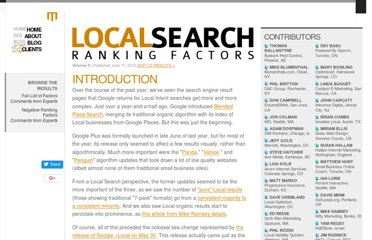 http://www.davidmihm.com/local-search-ranking-factors.shtml