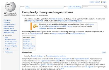 http://en.wikipedia.org/wiki/Complexity_theory_and_organizations