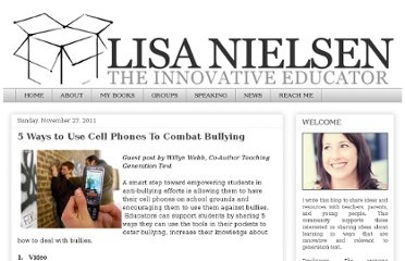 http://theinnovativeeducator.blogspot.com/2011/11/5-ways-to-use-cell-phones-to-combat.html